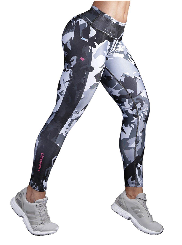 comprar hermosa y encantadora Precio de fábrica 2019 Drakon Activewear Leggings Printed Pattern Multicolor Paint ...