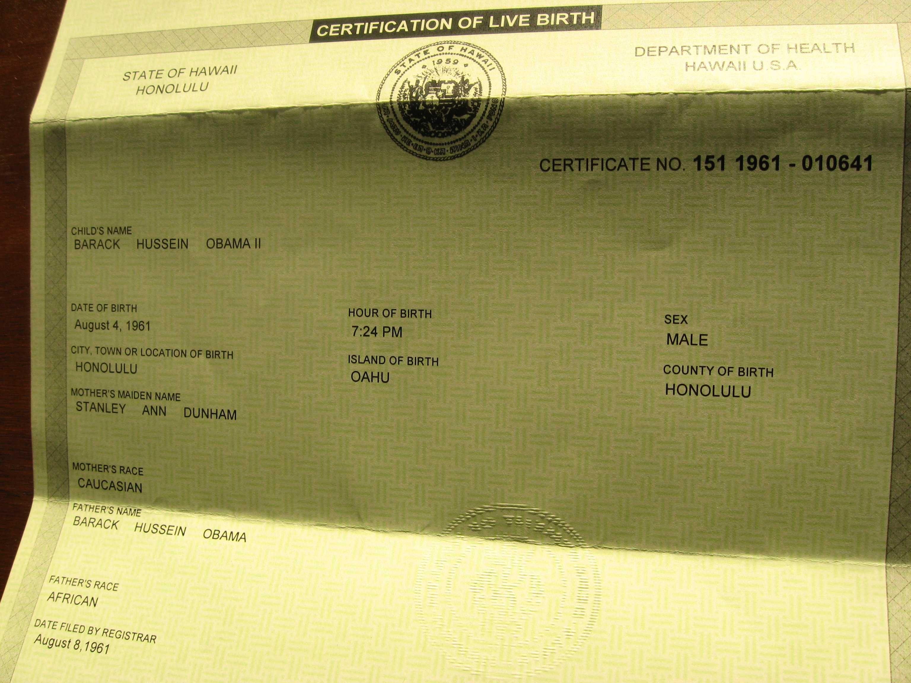 Barack Obama The Birth Certificate Controversy Controversies