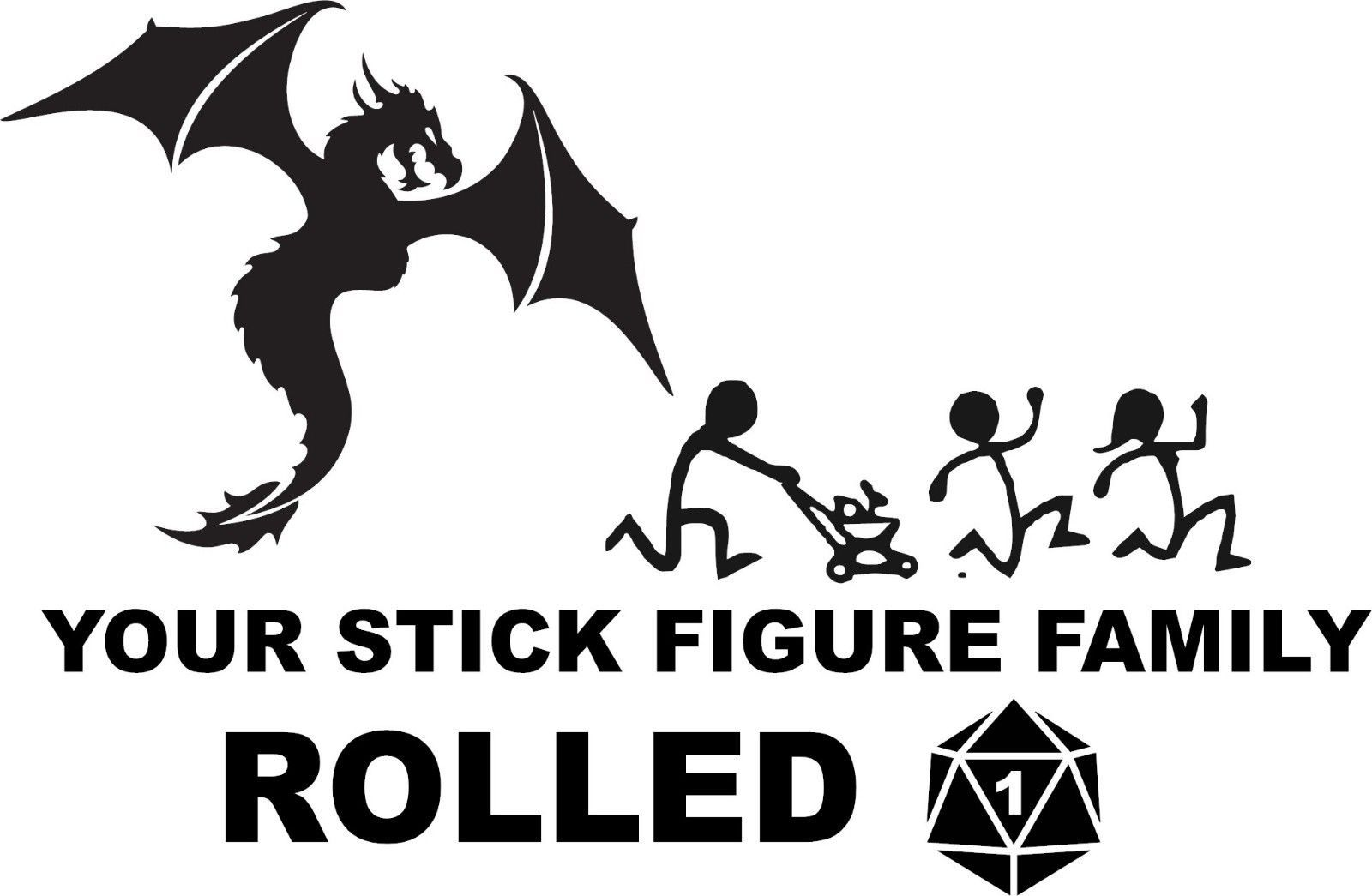 Dungeons and Dragons Stick Figure family Vinyl Decal Car 6