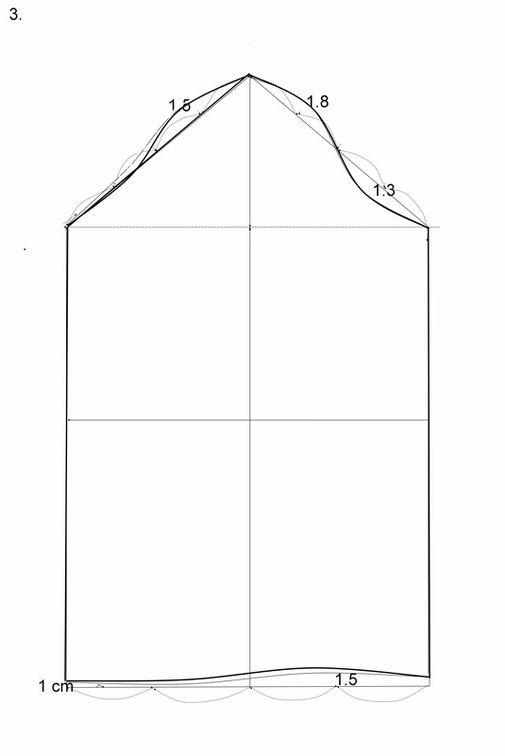 Ukuran   Ling kar lengan   40 cm (ukur pola lingkar lengan depan dan  belakang AH) Panjang lengan   52 cm Lang kah   Tarik garis AB ddcb2dc11f