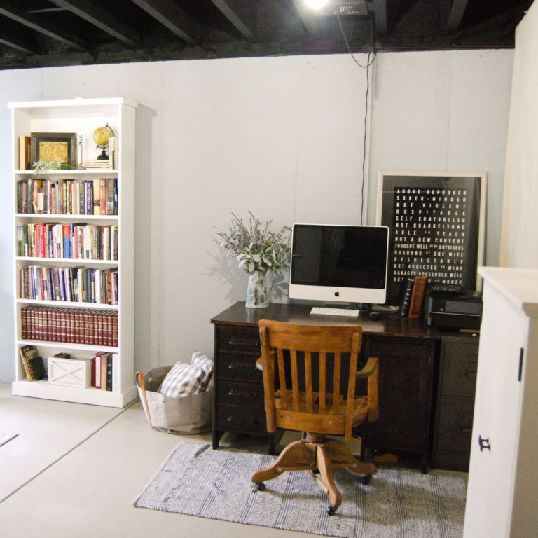 Photo of Unfinished Basement Guest Bedroom – Emily's Project List