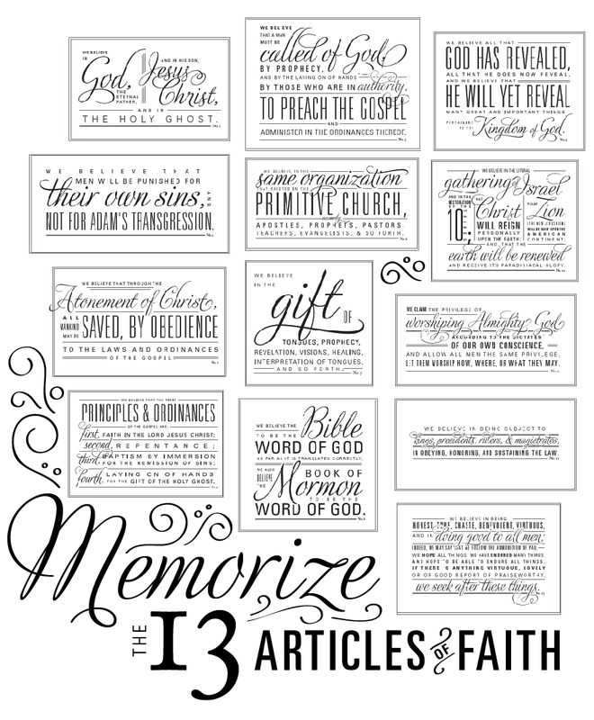 It is an image of Accomplished Articles of Faith Printable