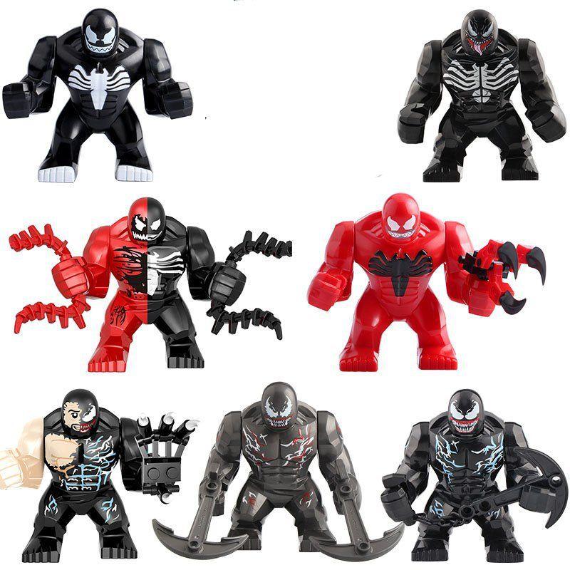Riot Venom Symbiote Marvel Superhero Mini Action Figure Toy Spider-Man Lego Moc