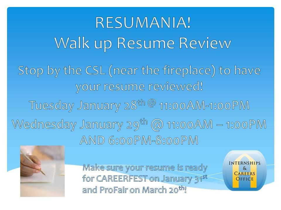 come get your resume reviewed at resumania the internships