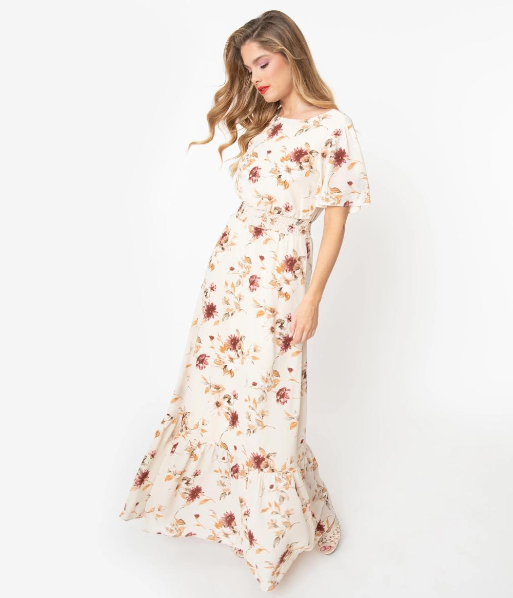 Simple Flavor Women S Vintage Maxi Dress 3 4 Sleeve Floral Long Dress Floor Length At Amazon Women S Clothing Maxi Dress Floral Dresses Long Vintage Maxi Dress [ 1300 x 1000 Pixel ]