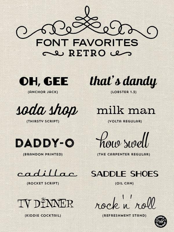Font Favorites Retro