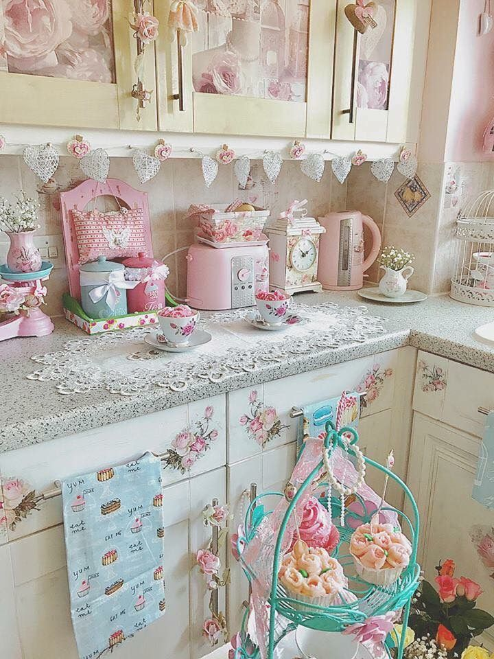 Pin By Sandy On Kitchen Ideas In 2018 Pinterest Shabby Chic - Decoracion-shabby-chic-vintage