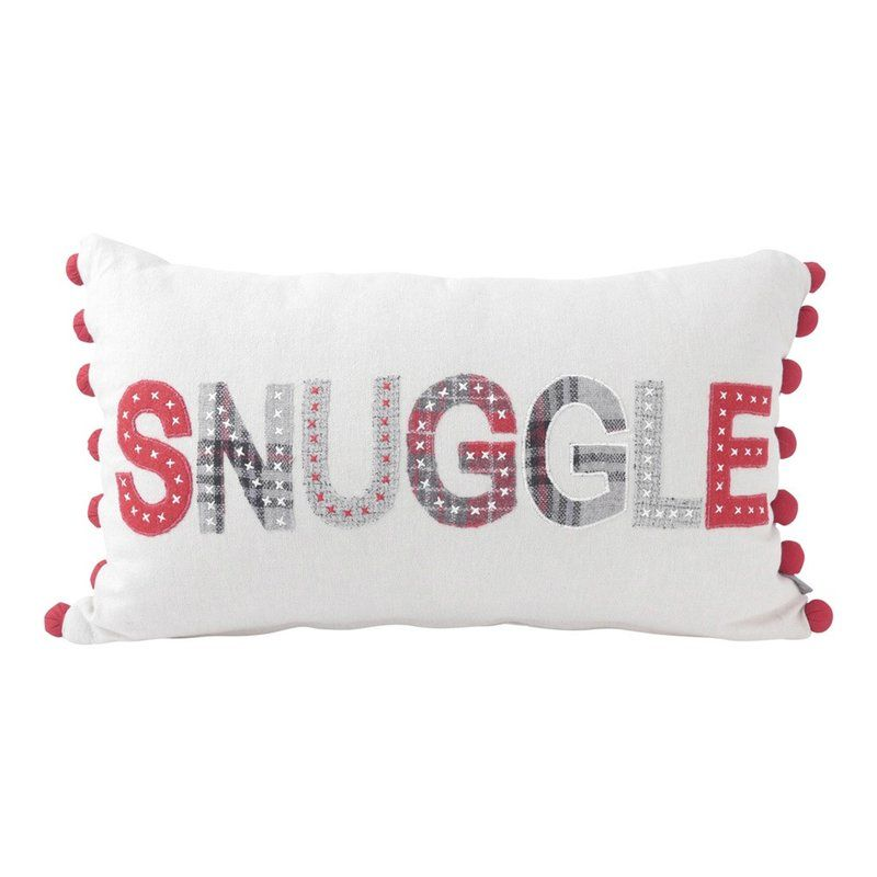 Browner Snuggle Applique Lumbar Pillow