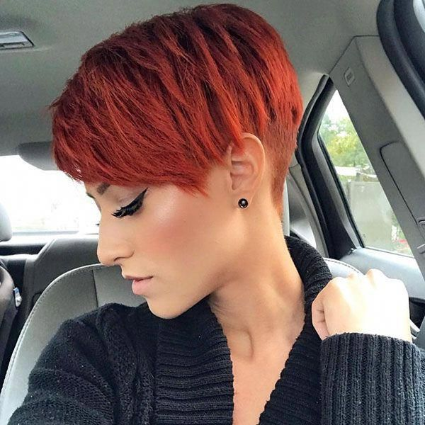 68 Best Pixie Haircut Ideas In 2019 With Images Pixie Haircut For Thick Hair Short Red Hair Thick Hair Styles