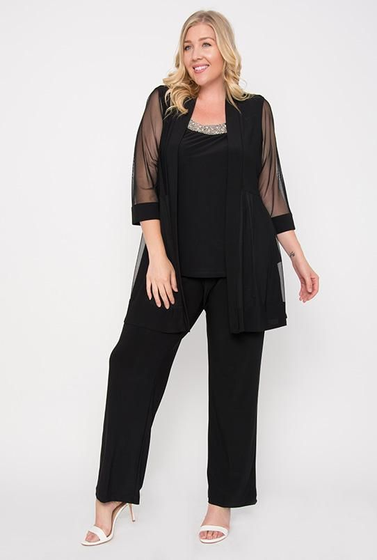 16764f4167 R M Richards Long Formal Pants Suit Plus Size Dress