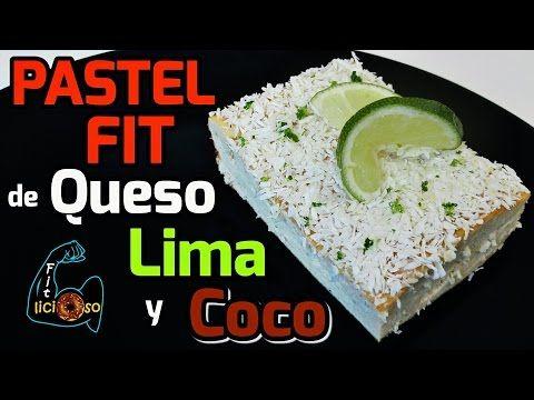 Pastel Fit De Queso Lima Y Coco Sin Harina Fitlicioso