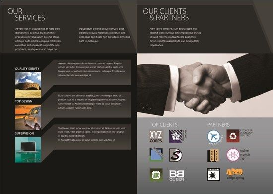 Wonderful Campnay Business Profile Intended For Company Portfolio Template