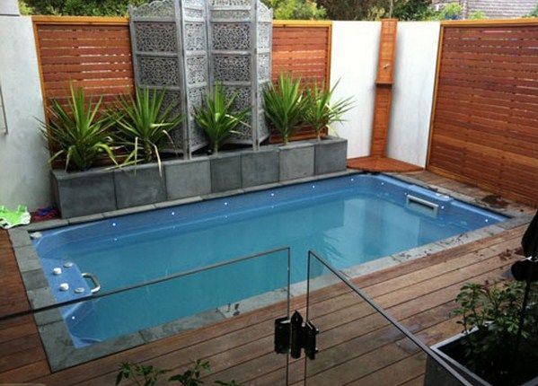 Desain Kolam Renang Minimalis Small Backyard Design Small Pool Design Backyard Pool