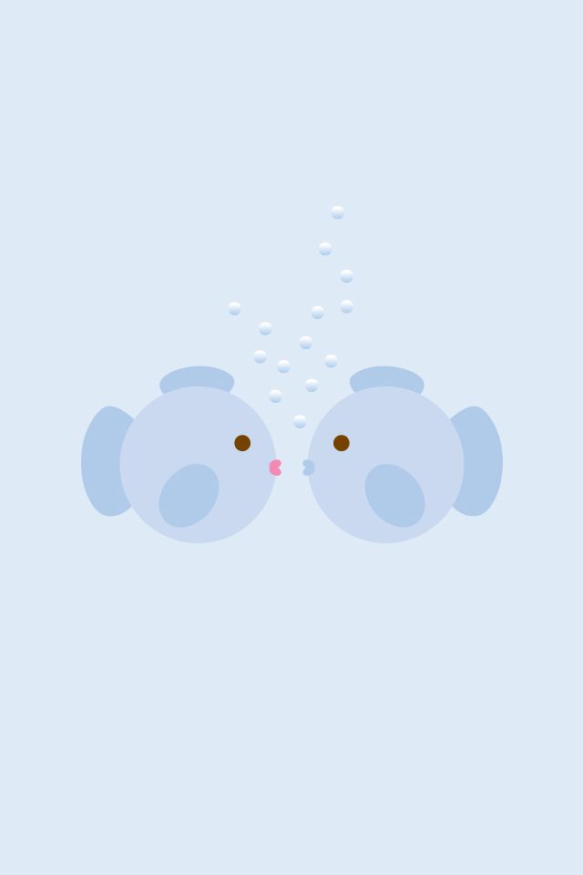 #Fishies / Soo #Kawaii > Download more super cute #iPhone #Wallpapers at @prettywallpaper