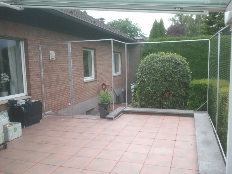 Katzennetz terrasse in bottrop diy how to make for Katzennetz balkon mit mipow playbulb garden