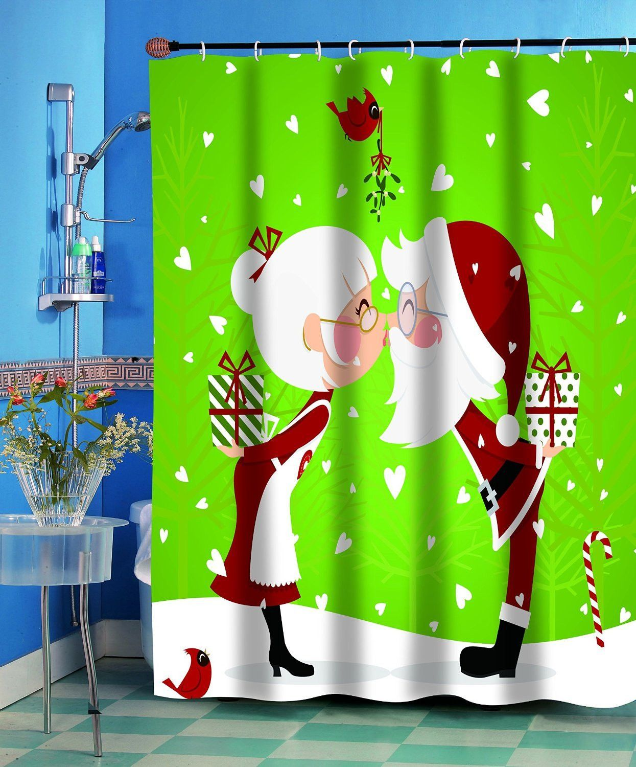 Merry Christmas Bathroom Wish Collection Holiday Fabric Shower ...