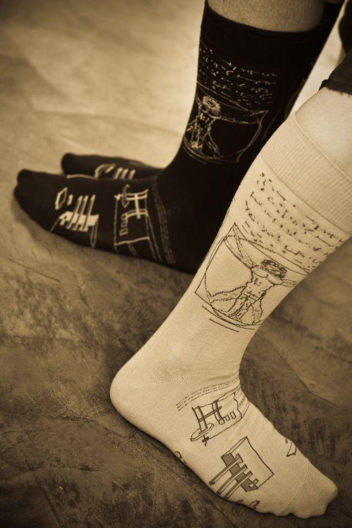Da Vinci socks!  these went away much too soon...