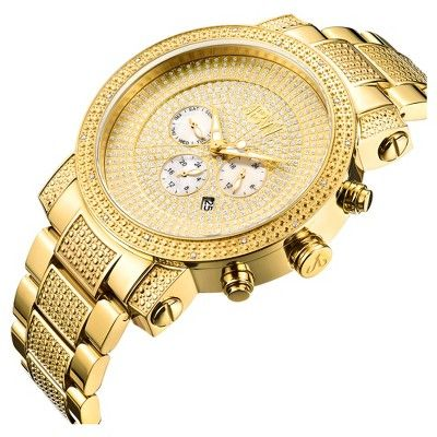 Men's Jbw JB-8102-A Victor Japanese Movement Stainless Steel Real Diamond Watch - Gold, Pharoah Gold, Durable