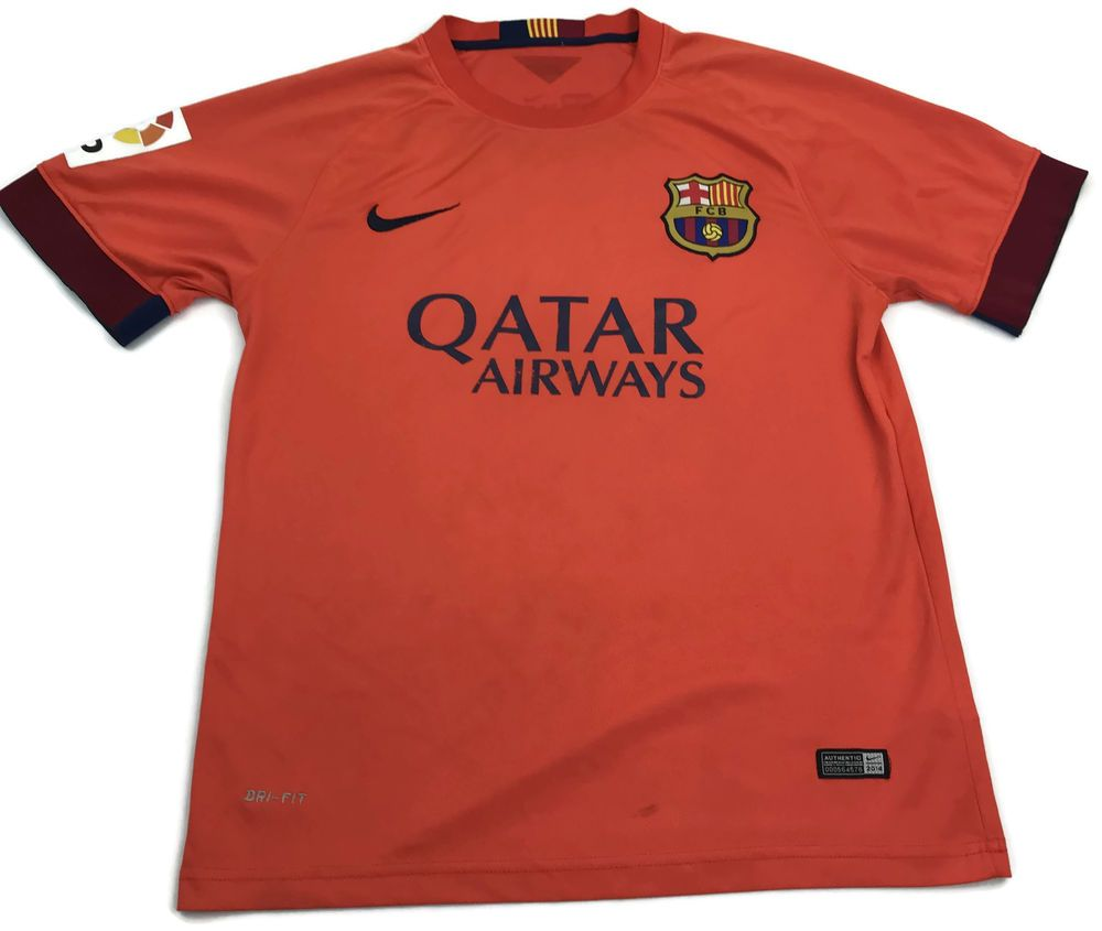 60d585523c8 Nike Lionel Messi FC Barcelona Soccer Jersey Medium Mens Orange #10 M Size  Sz M