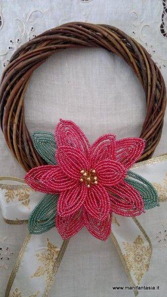 Stella Di Natale Con Perline.Tutorial Fiori Di Perline La Stella Di Natale Beaded Flowers