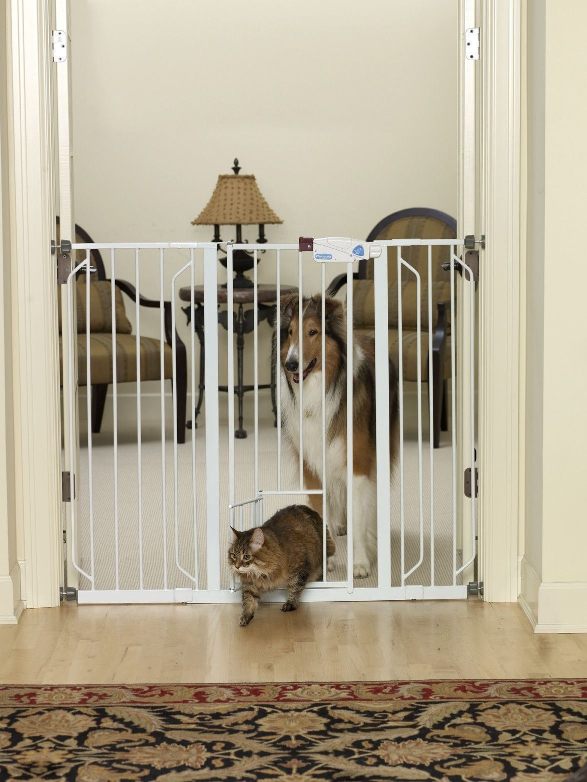 Carlson Extra Tall Pet Gate With Pet Door Extra Tall Pet Gate