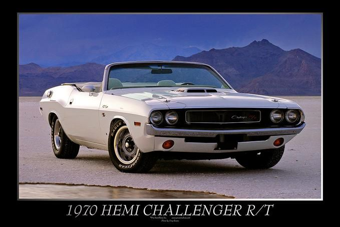1970 Dodge Challenger Hemi R/T on the Bonneville Salt Flats