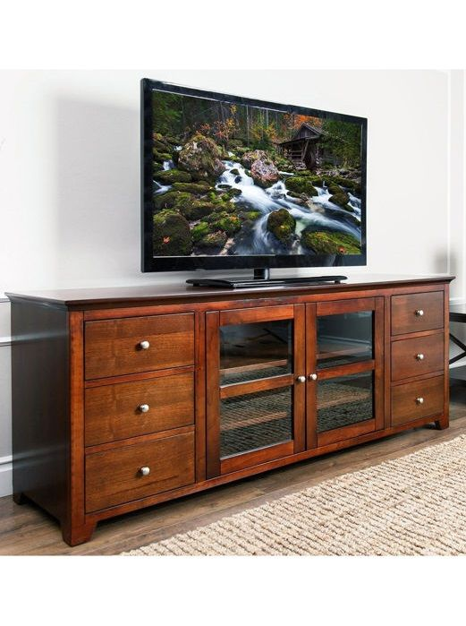Allow The Taylor 72 Media Console By Abbyson Living To Become Foundation Of Entertainment