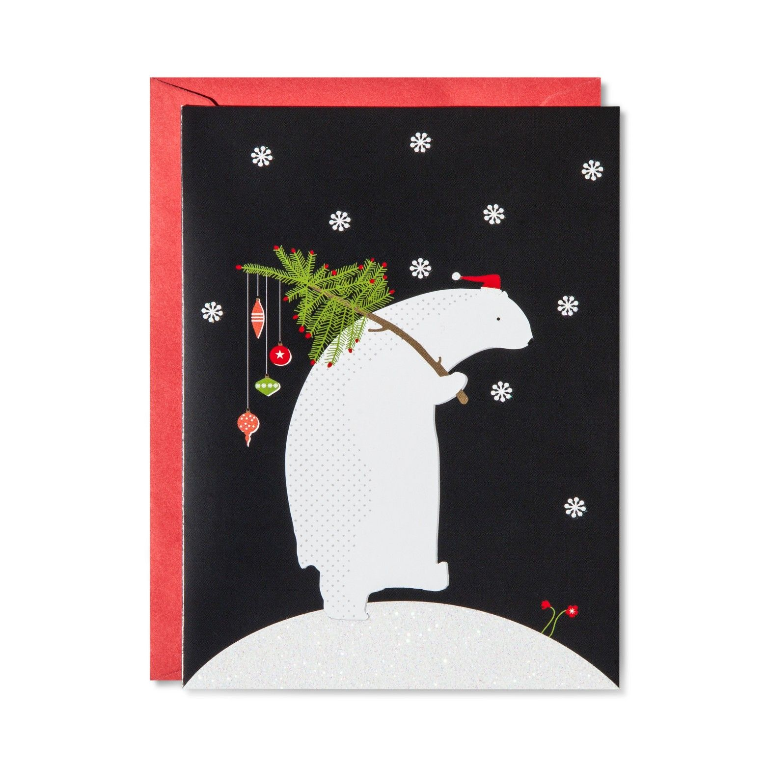 American Greetings 14ct Polar Bear Carrying a Tree Holiday Boxed ...