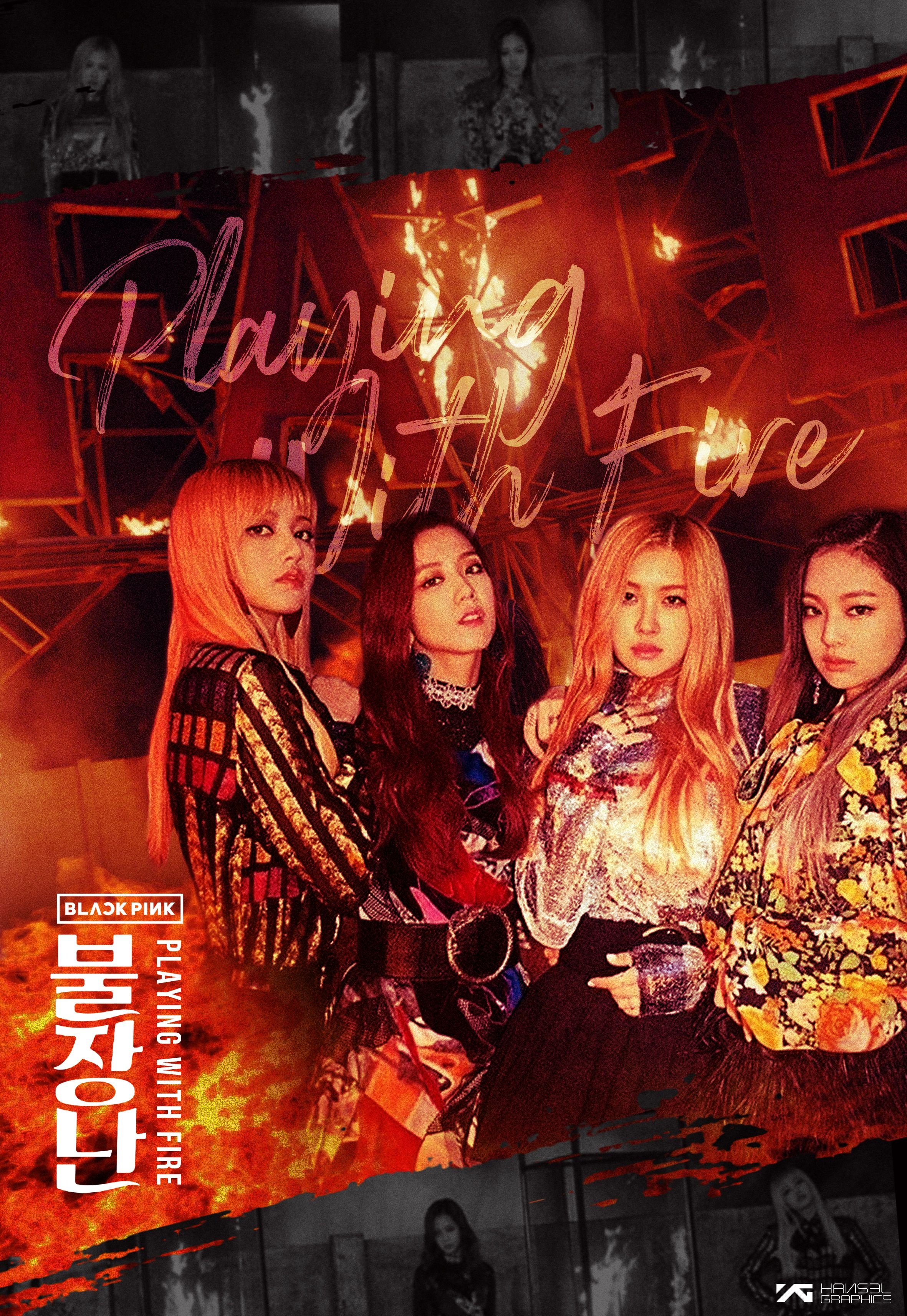 BLACKPINK 'Playing With Fire' Poster   Blackpink playing with fire, Blackpink poster, Blackpink playing with fire album cover