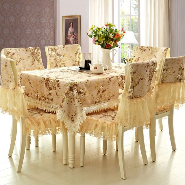 Online Shop Qyj European Luxury Dining Table Cover Set Gls Tablecloth Table Dining Cushion Table Cloth Chair Cush Luxury Dining Tables Table Cloth Dining Table