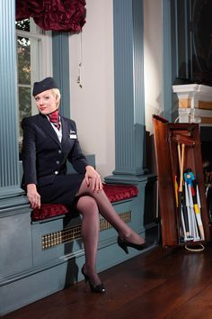 Air stewardess in pantyhose images 687