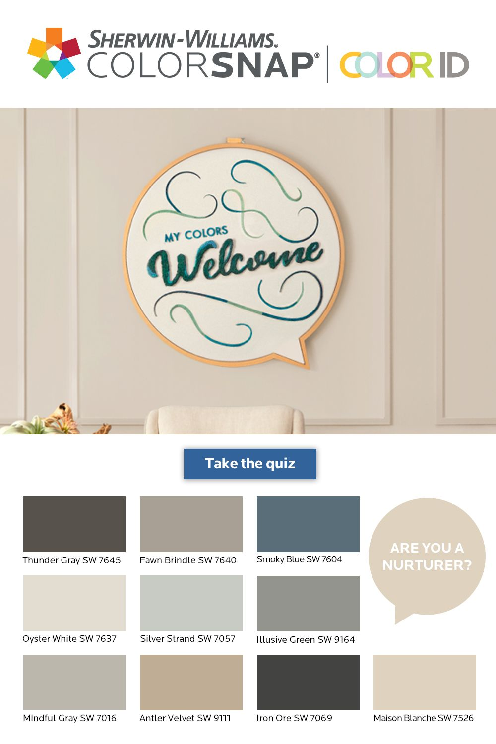 What S Your Color Id Take The Quiz To Find A Color Palette That Matches Your Unique Personali Paint Colors For Home House Colors Interior Paint Colors Schemes
