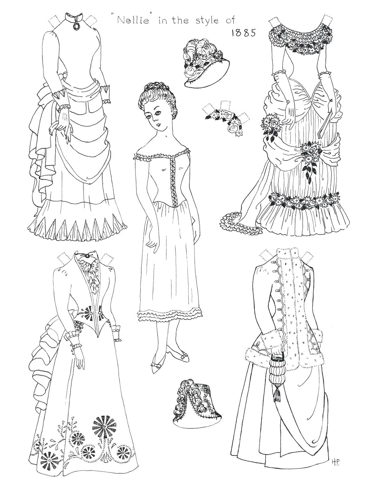 Victorian Paper Doll Printed On Mag Paper Cut Out And Let