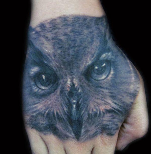 832149b5f3712 55 Awesome Owl Tattoos   Tattoo Ideas ♡   Hand tattoos, Owl tattoo ...