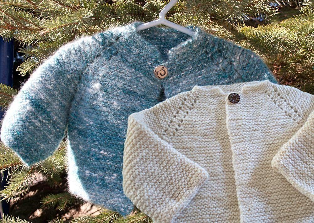 f0424bb75096 Top Down Garter Stitch Baby Jacket