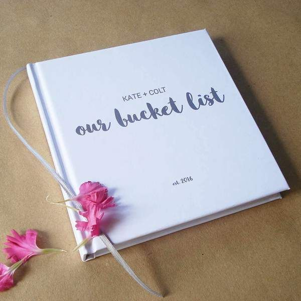 CUSTOM Our Bucket List Journal · Personalized Paper Anniversary Gift · DIY Wedding Anniversary Notebook