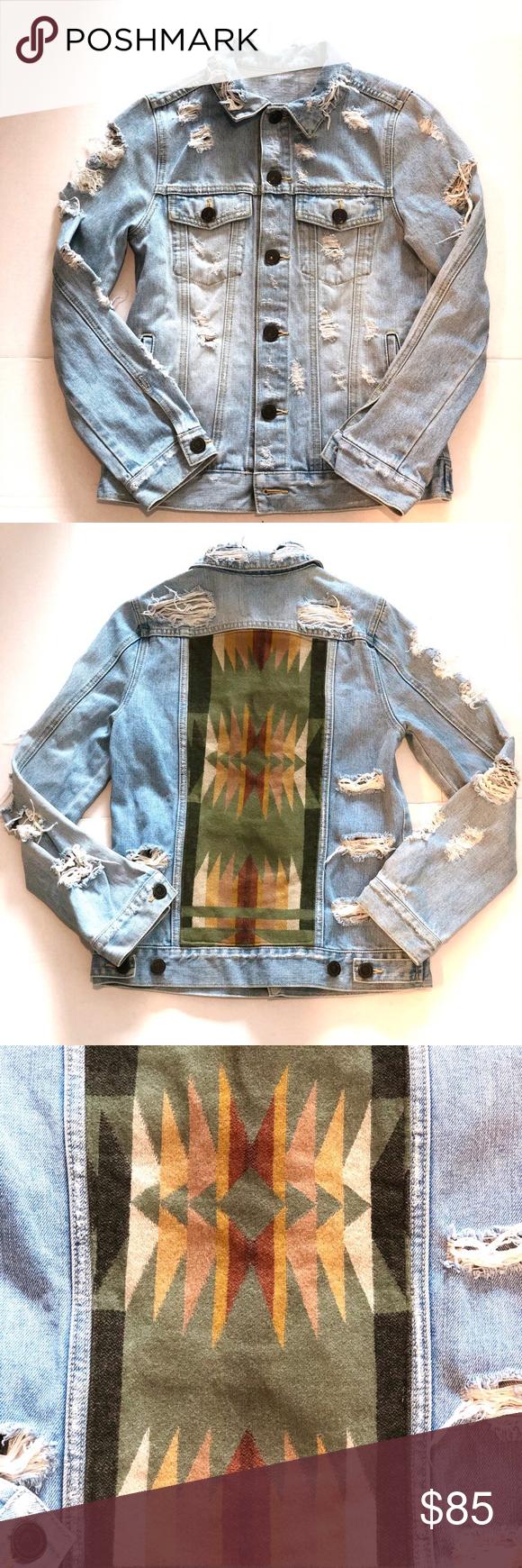 Custom Made Pendleton Jeans Jacket Size S Jackets Jean Jacket Pendleton [ 1740 x 580 Pixel ]