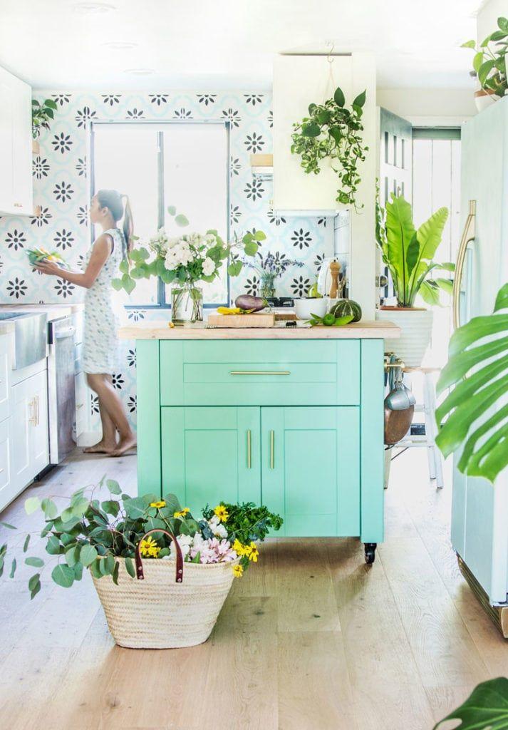 Farmhouse DIY Kitchen Island ( an IKEA hack!) Boho