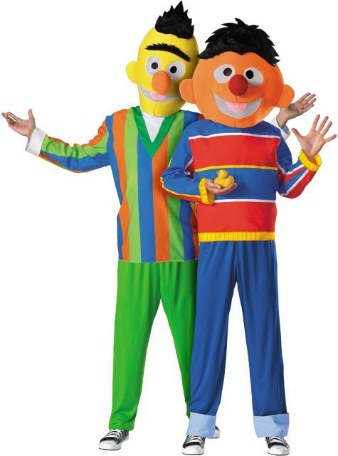 Bert and Ernie Sesame Street Couples Costumes - Party City ...