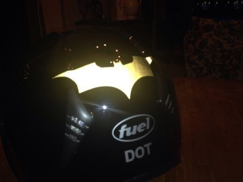 Dark Knight Batman Reflective DecalSticker Set Of - Reflective helmet decals stickers