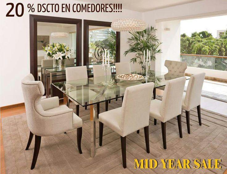 Comedor sillas beige y espejos. Mesa de vidrio. | Decoración hogar ...