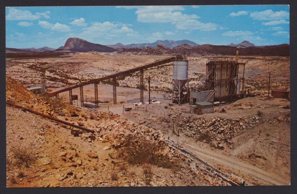 Study Butte Brewster County Texas TX mercury mining postcard