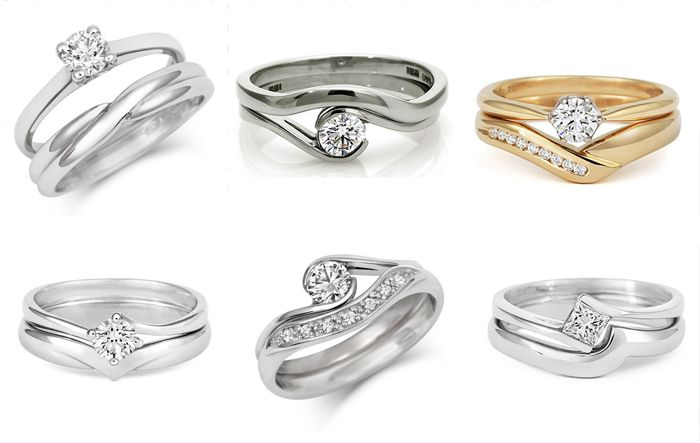 Shaped Wedding Rings Cred Jewellery The Perfect Fit Wedding