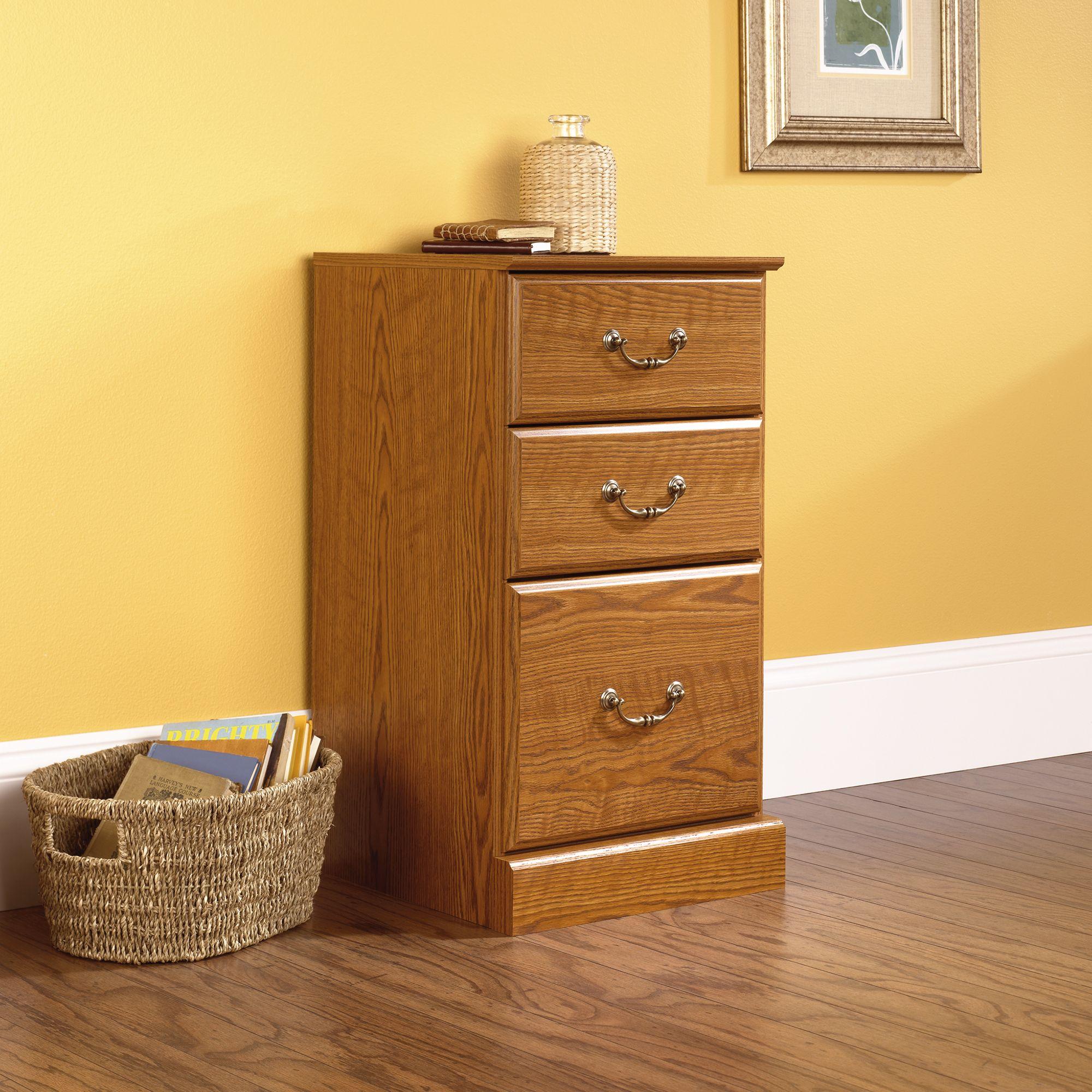 401804 Sauder 3 Drawer Pedestal Carolina Oak Filing Cabinet Office Furniture Accessories Wooden File Cabinet Wooden file cabinet 3 drawer