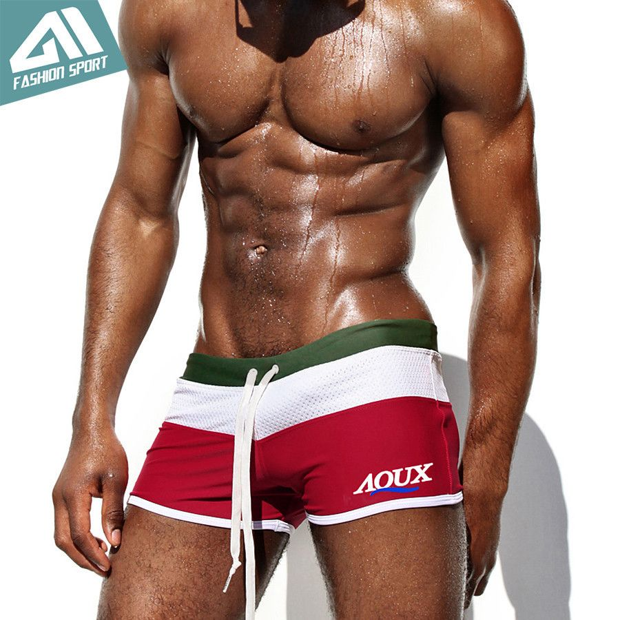 0989c5033d New Aqux Men's Swimwear Sexy Fashion High Quality Men's Swimming Shorts