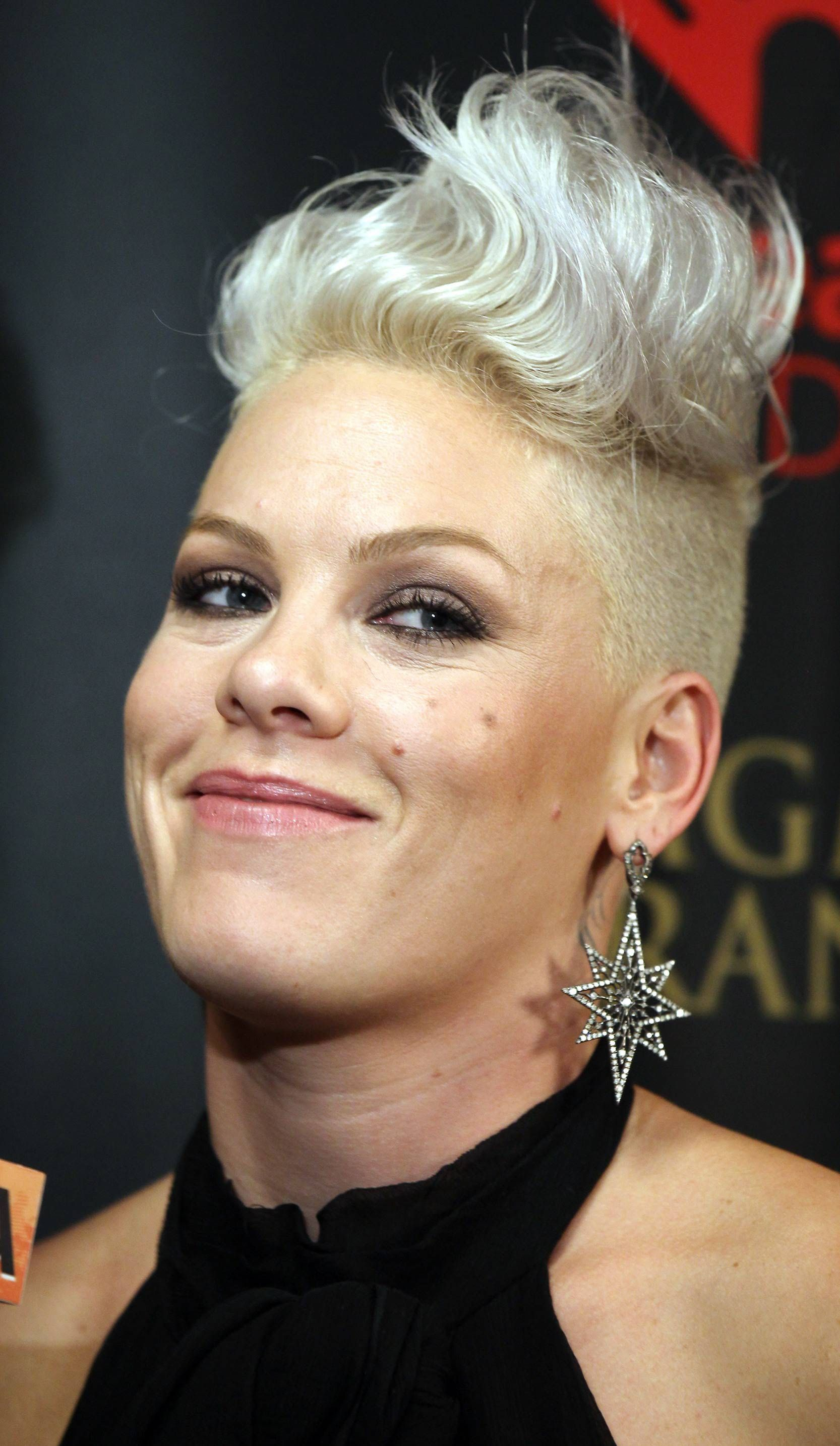 Pink the Singer Short Hair Hairstyles