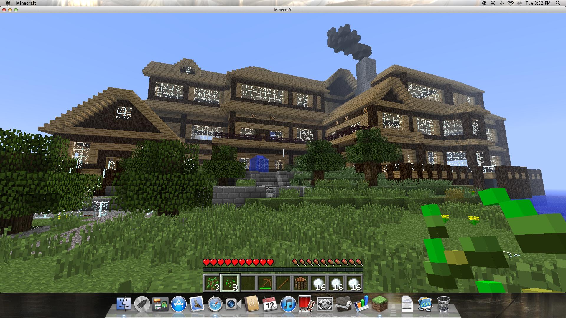 Mansion With Lights 2 0 Addon Minecraft Minecraft Mansion Minecraft Mansions