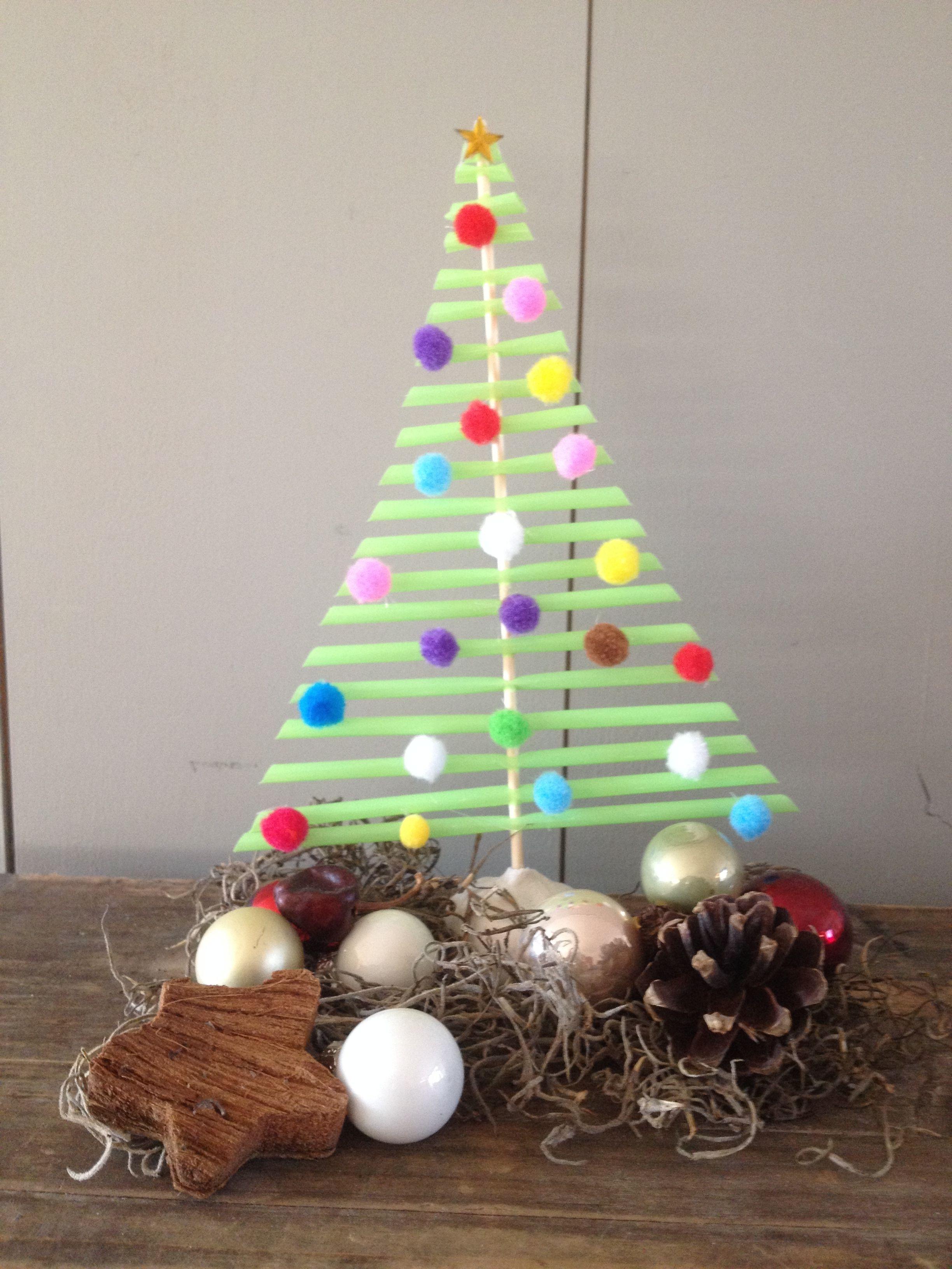 Een Kerstboom Knutselen Van Rietjes Rietjes Pinterest Kerst