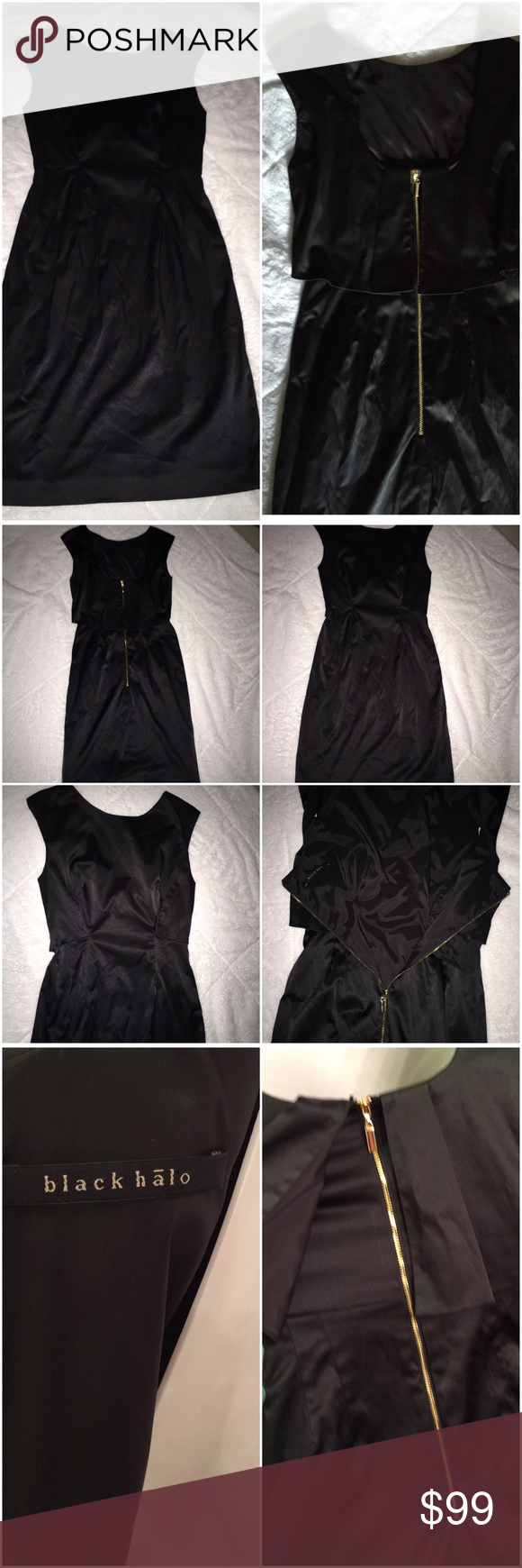 black halo extremely sexy & elegant Sz 2 Timeless little black dress. Simple & yet makes a statement all by its self. Black Halo Dresses Midi