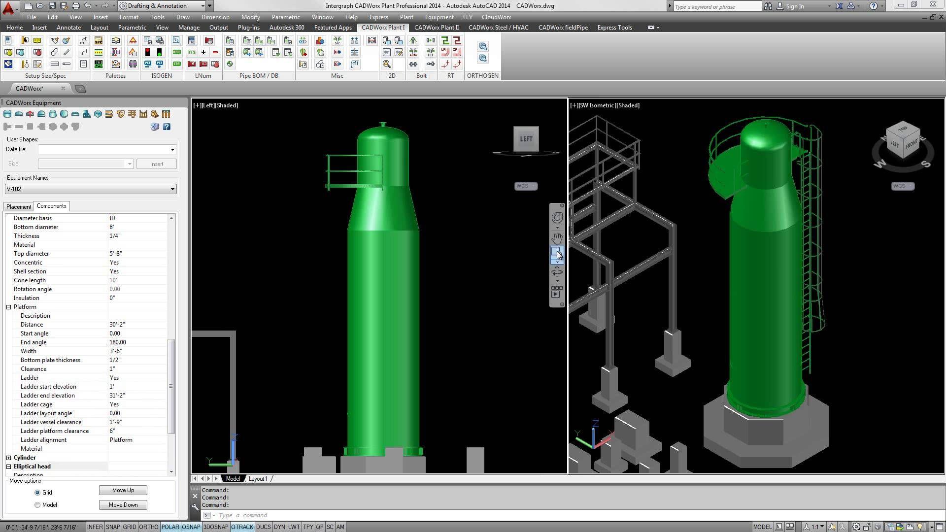Intergraph CADWorx Plant Professional Equipment Overview